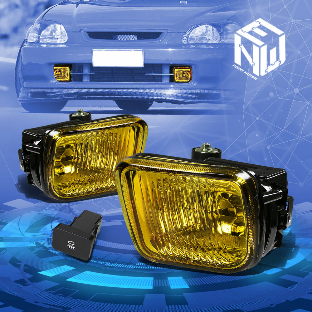 Amber Yellow Driving Fog Light/Lamp+Switch For 1996-1998