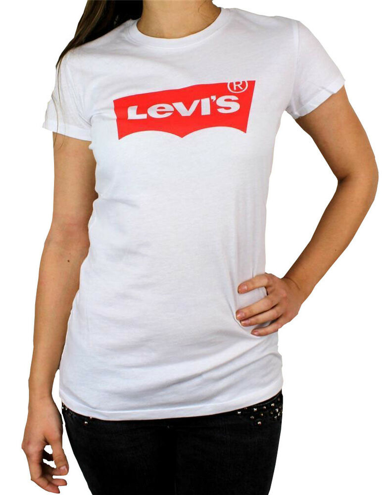 new levi 39 s women 39 s premium classic graphic cotton t shirt shirt tee white ebay. Black Bedroom Furniture Sets. Home Design Ideas