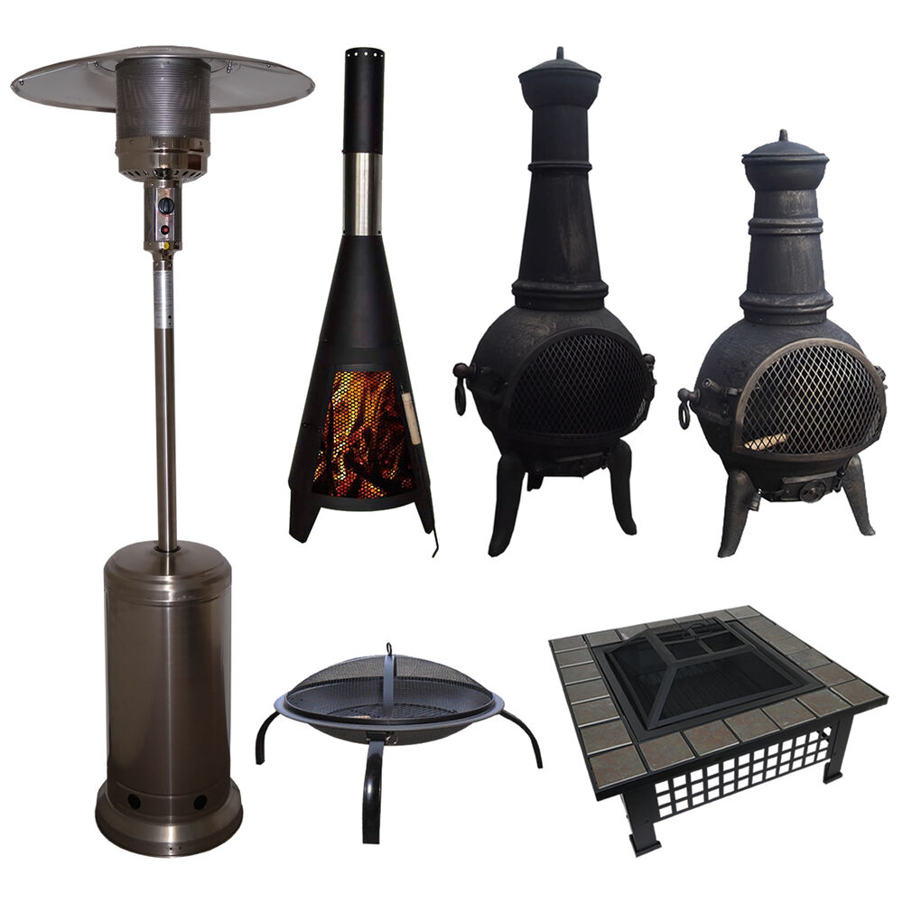 outdoor garden patio heater chimnea fire pit open heat gas charcoal fuel burners ebay. Black Bedroom Furniture Sets. Home Design Ideas