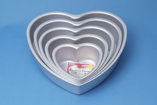 Pme Heart Shaped Cake Pan Tin Tiered Wedding Cake 6 8 10