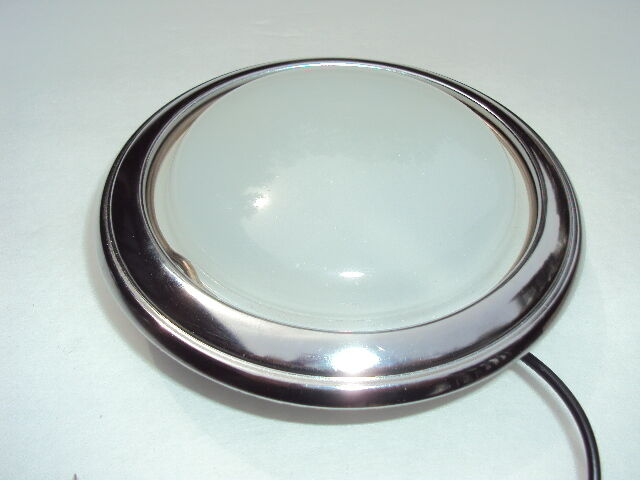12 volt ford interior dome light all metal with glass lens ebay. Black Bedroom Furniture Sets. Home Design Ideas
