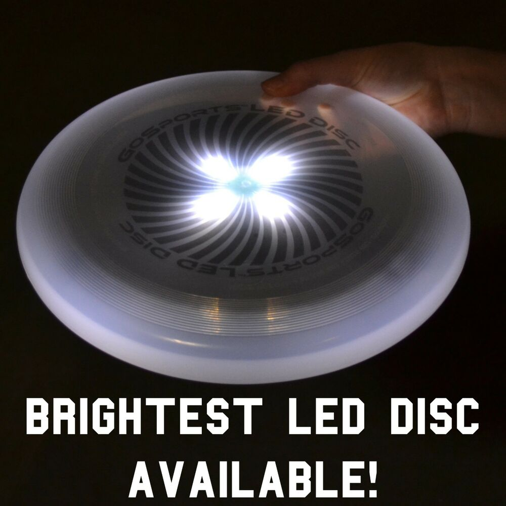 White gosports led flying light up disc great for Ultimate lighting