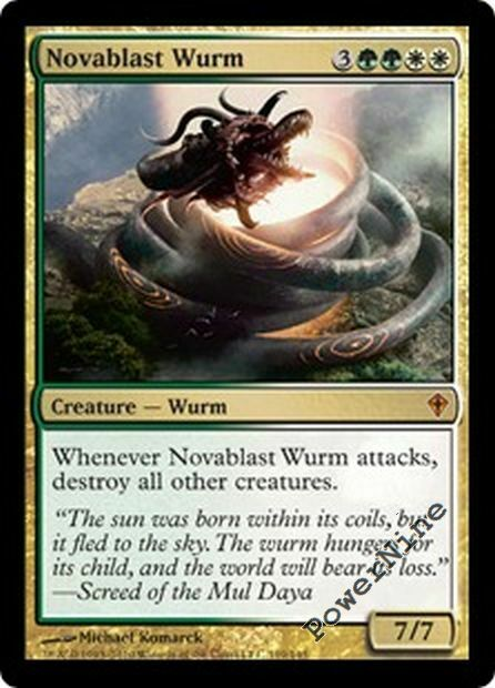 4 Novablast Wurm - Gold Worldwake Mtg Magic Mythic Rare 4x ...