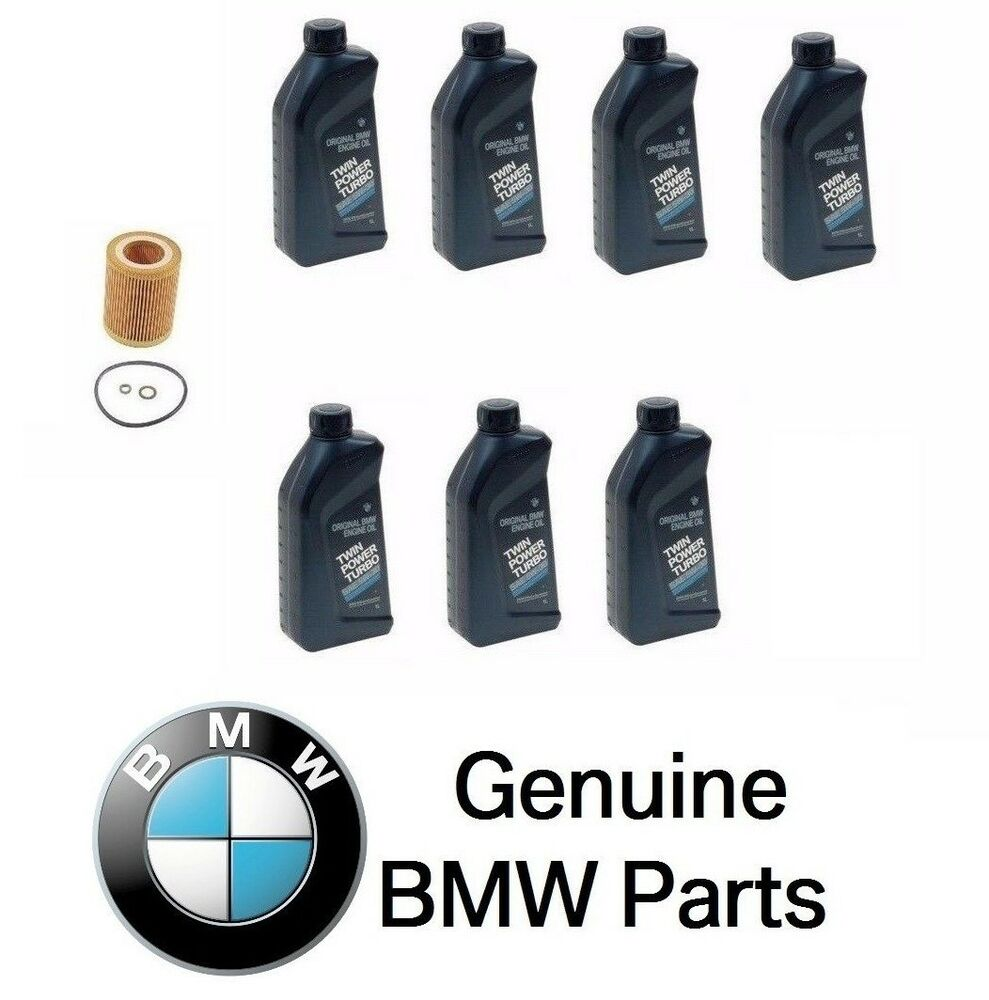 New 7 quarts genuine synthetic bmw 5w30 motor oil 1 mann for Motor oil for bmw