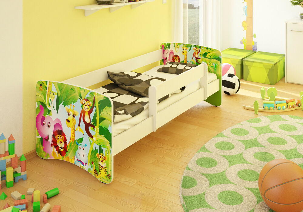 bfk best for kids brandneu kinderbett bett jugendbett mit rausfallschutz ebay. Black Bedroom Furniture Sets. Home Design Ideas