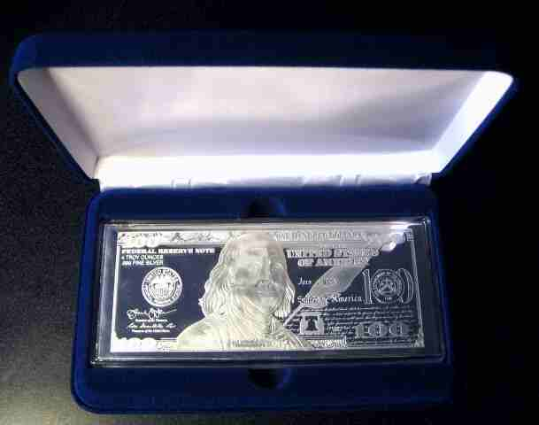 Velvet Gift Box For A 4oz Silver Bar Nice Presentation