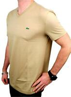 BRAND NEW NWT LACOSTE MEN'S SPORT ATHLETIC COTTON V-NECK SHIRT T-SHIRT SAHARA