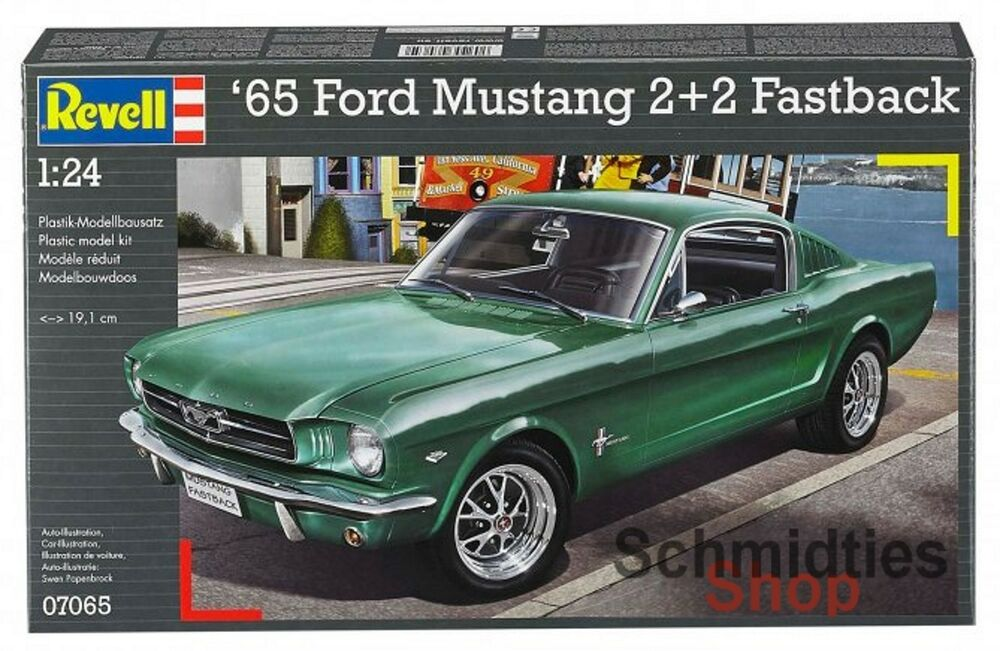 revell 07065 39 65 ford mustang 2 2 fastback ma stab 1 24. Black Bedroom Furniture Sets. Home Design Ideas
