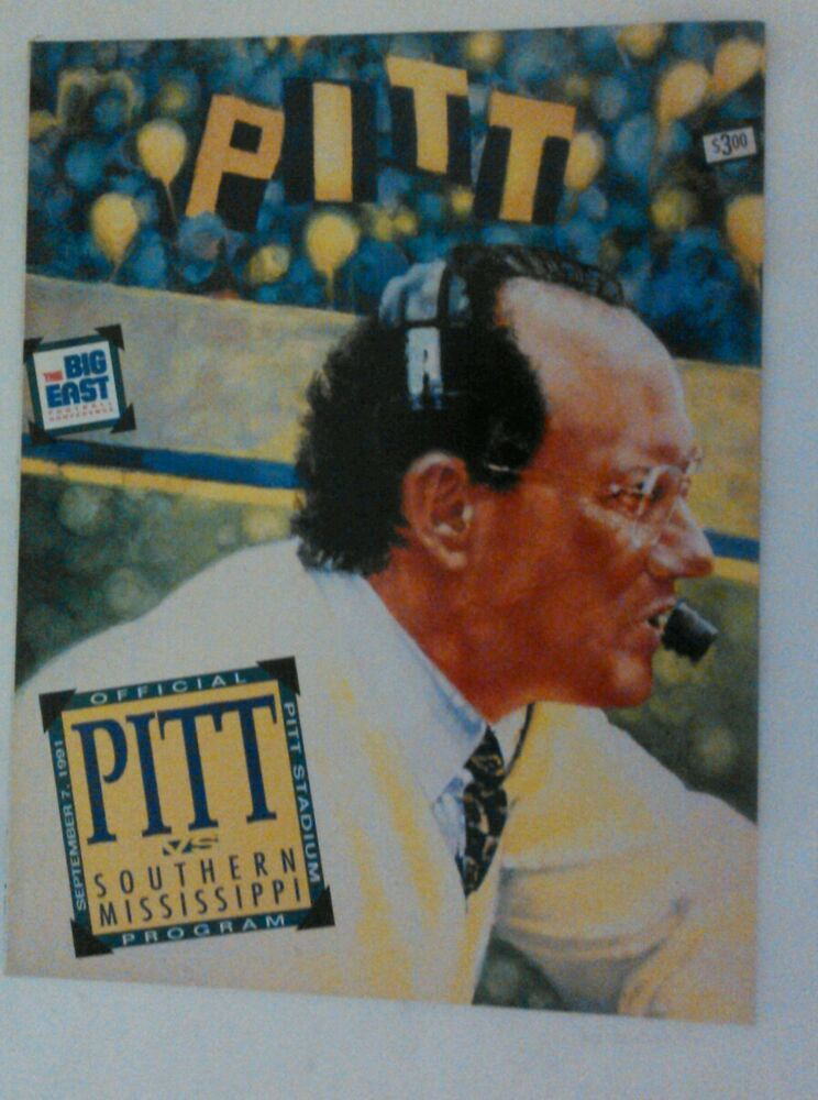 1991 Pittsburgh Panthers Pitt Vs Southern Mississippi ...