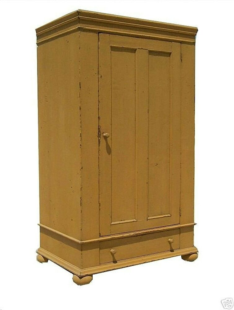 primitive country armoire wardrobe tv cabinet cupboard. Black Bedroom Furniture Sets. Home Design Ideas
