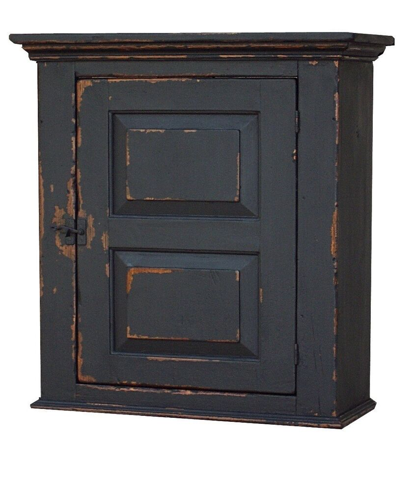 early old american wall cabinet primitive painted country
