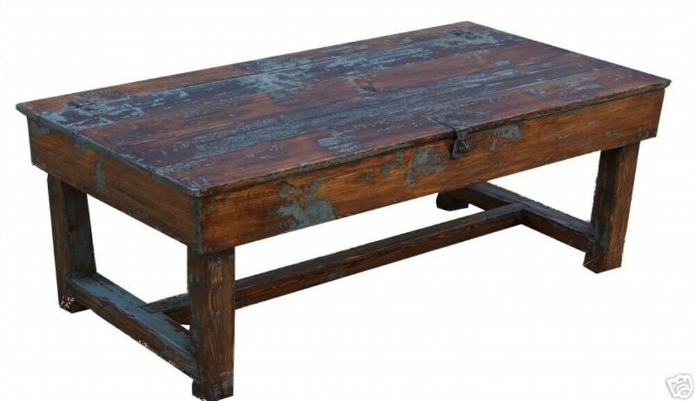 OLD FARMHOUSE RUSTIC COFFEE TABLE PAINTED COUNTRY PRIMITIVE PINE