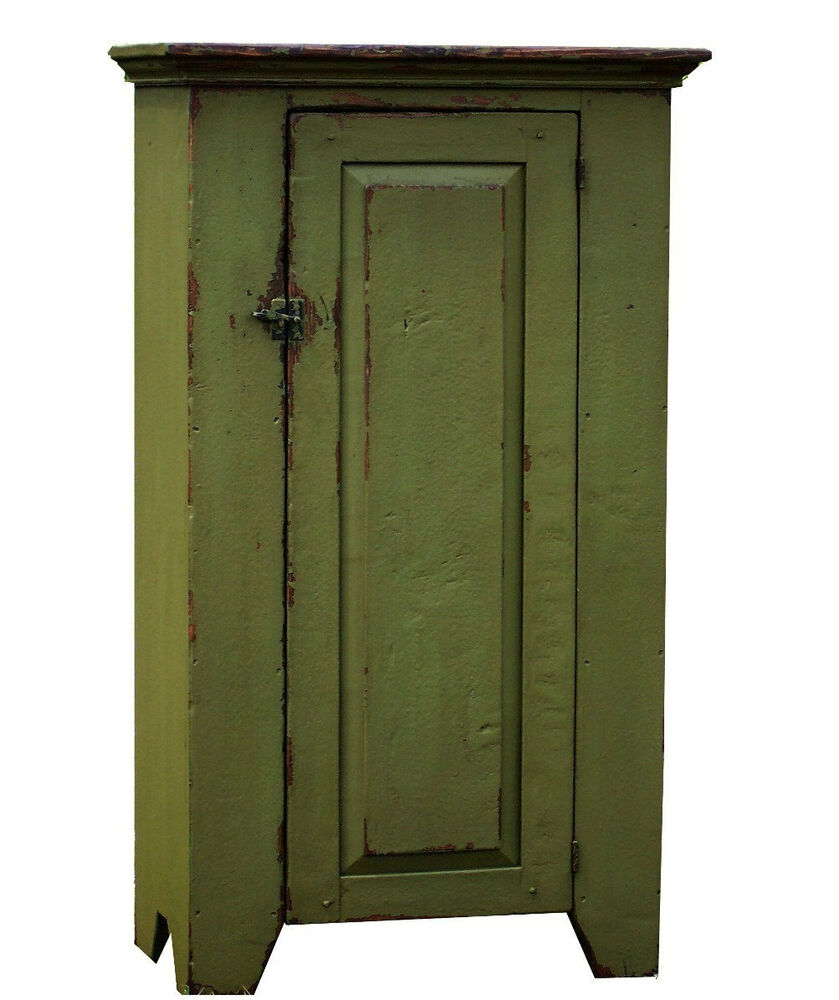PAINTED COUNTRY FARMHOUSE ANTIQUE REPRODUCTION PRIMITIVE CUPBOARD PINE FURNITURE : eBay