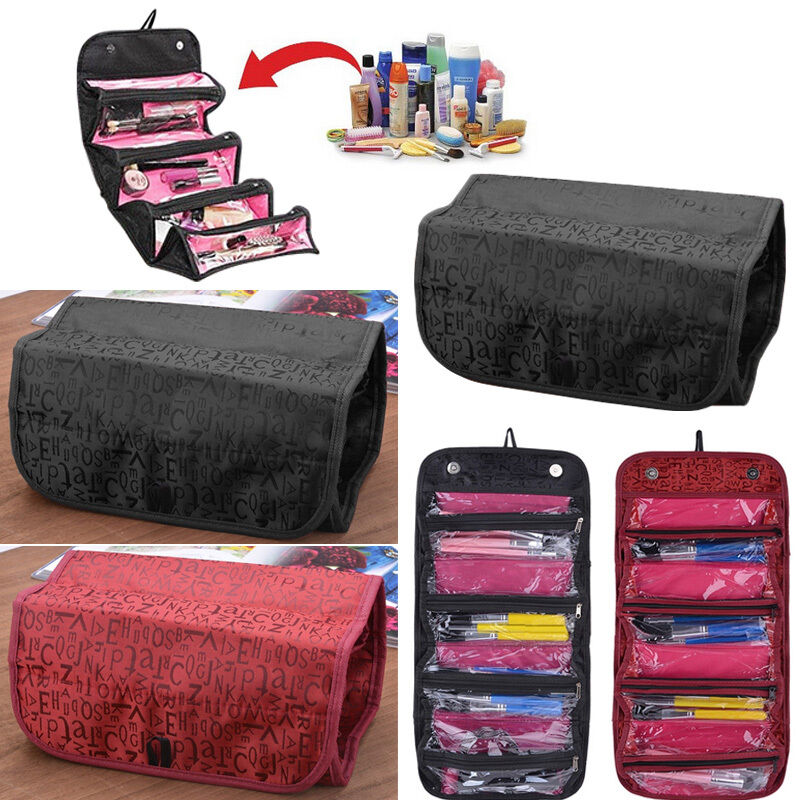 Toiletry travel bag with compartments