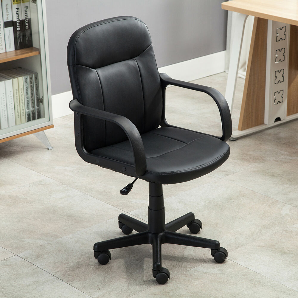 New Modern Office Executive Chair PU Leather Computer Desk Task Hydraulic Bla