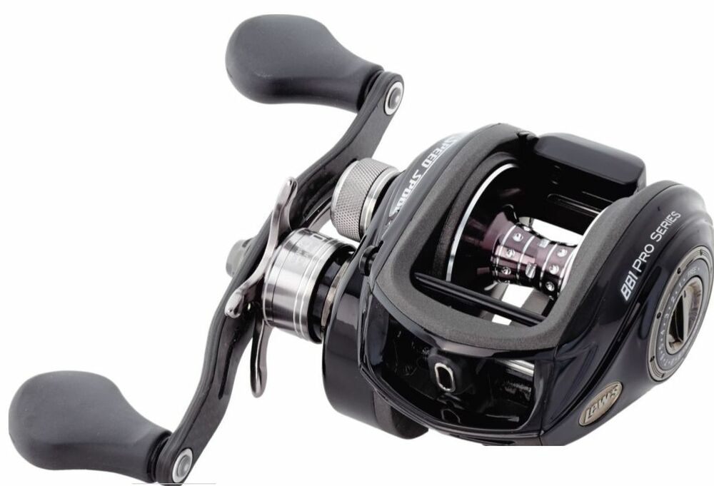 Lew 39 s bb1 pro ss right hand fishing reel 6 4 1 ps1hz ebay for Lews fishing reels