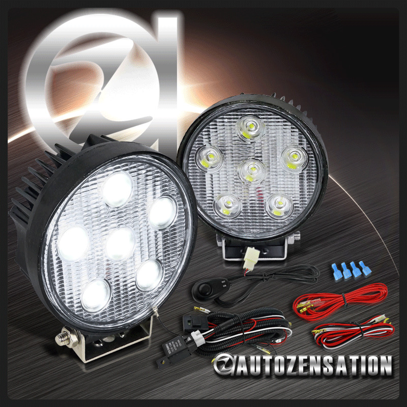2pc 4 5 Quot Bright White 6 Led 6000k Round Truck 4x4 Bumper