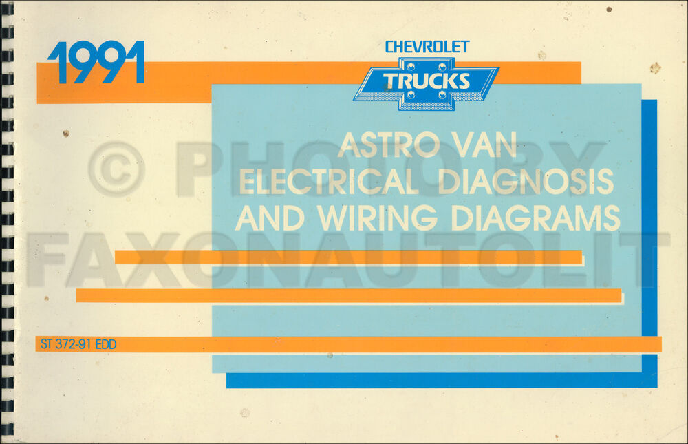 1991 Chevy Astro Van Wiring Diagram Manual 91 Chevrolet