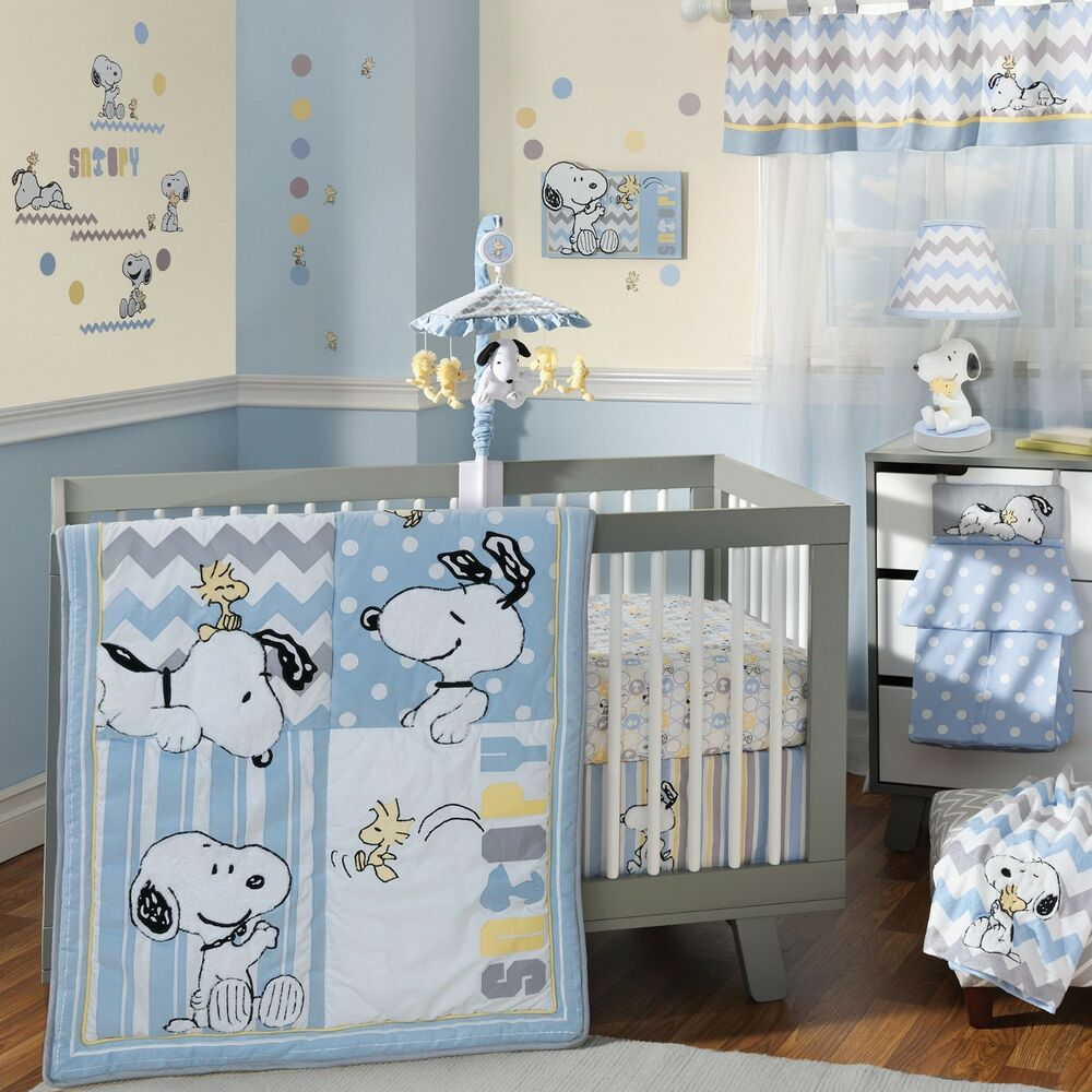 Lambs Amp Ivy My Little Snoopy 6 Piece Baby Crib Bedding Set