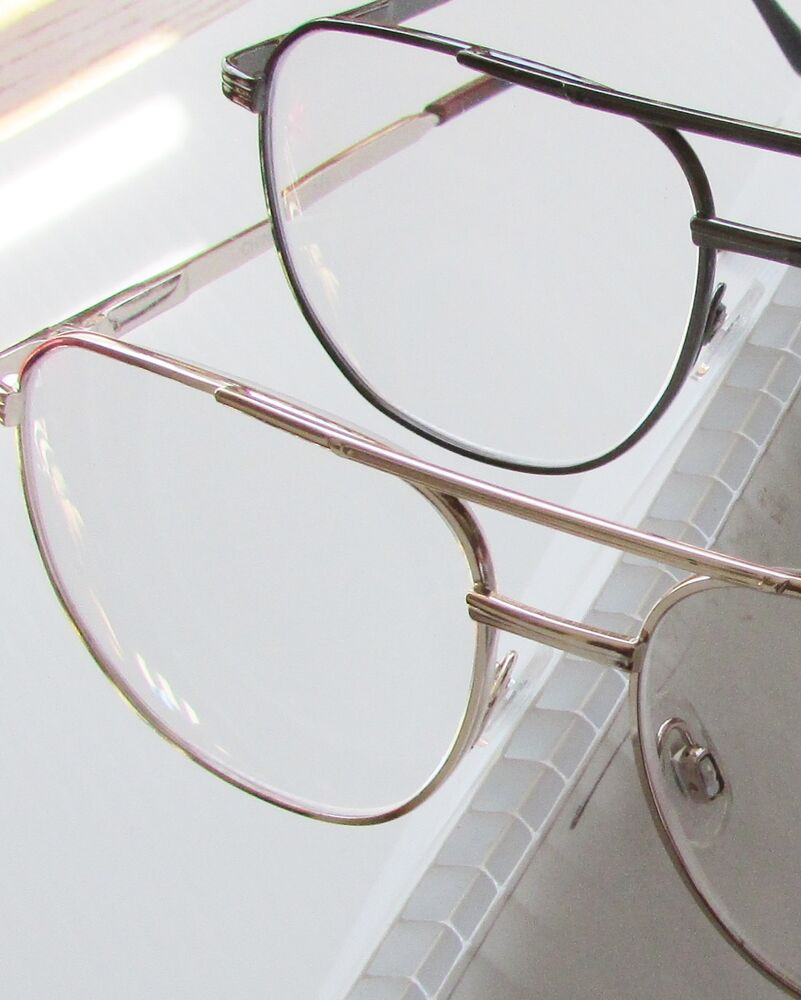 3 large traditional aviator reading glasses gold tone or
