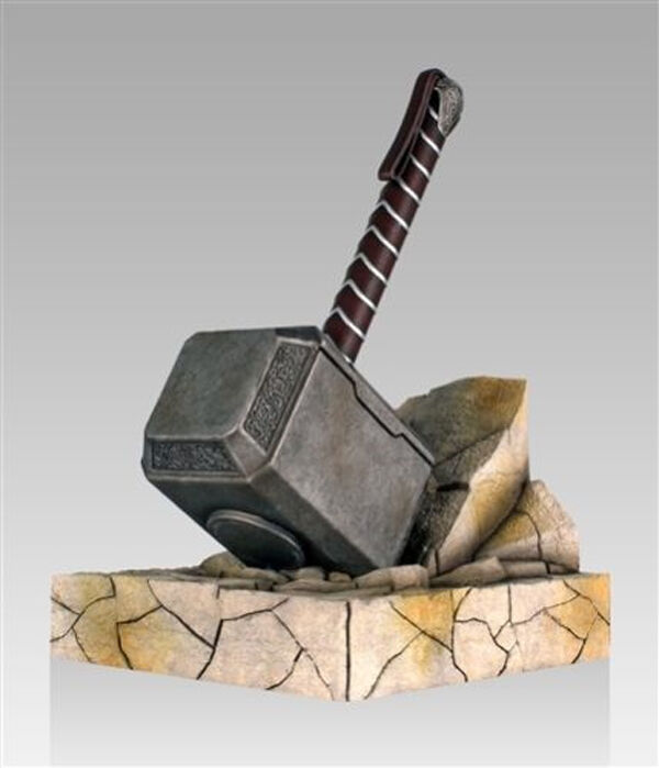 new in box marvel comics thor mjolnir hammer bookend