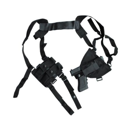 img-Shoulder Holster Black Covert CrossDraw Holster Close Protection Security Police