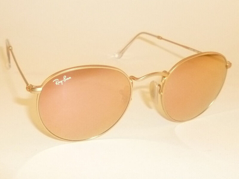 7496d4ecc7a30 Details about New RAY BAN Sunglasses ROUND METAL Matte Gold RB 3447 112 Z2 Pink  Mirror Lenses