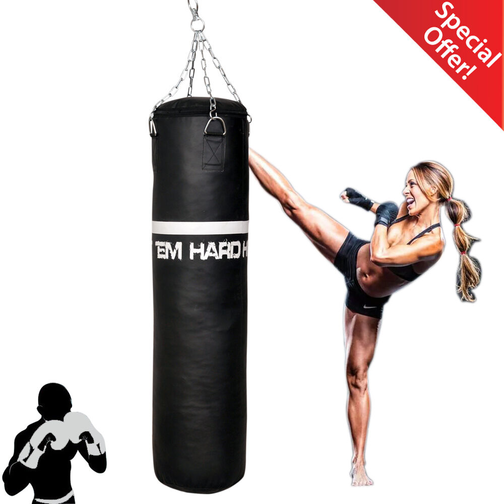 Home Gym Heavy Bag: HTH Vinyl Leather Heavy Punch Bags Workout Boxing Gym