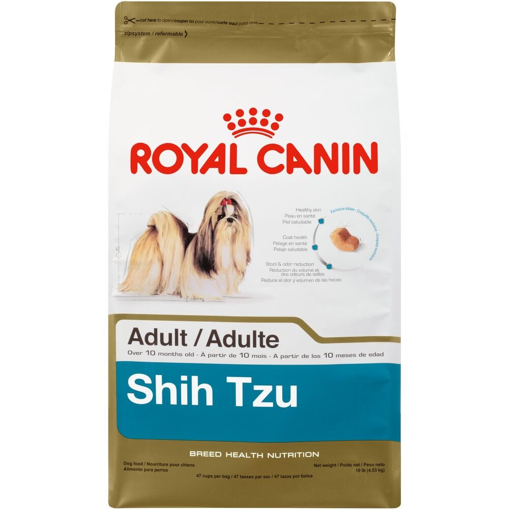 Royal Canin Shih Tzu Dry Dog Food 10 Pound Bag New Free