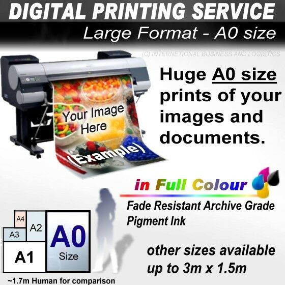 LARGE FORMAT PRINTER PRINTING SERVICE: A0 A1 A2 A3 POSTER ...
