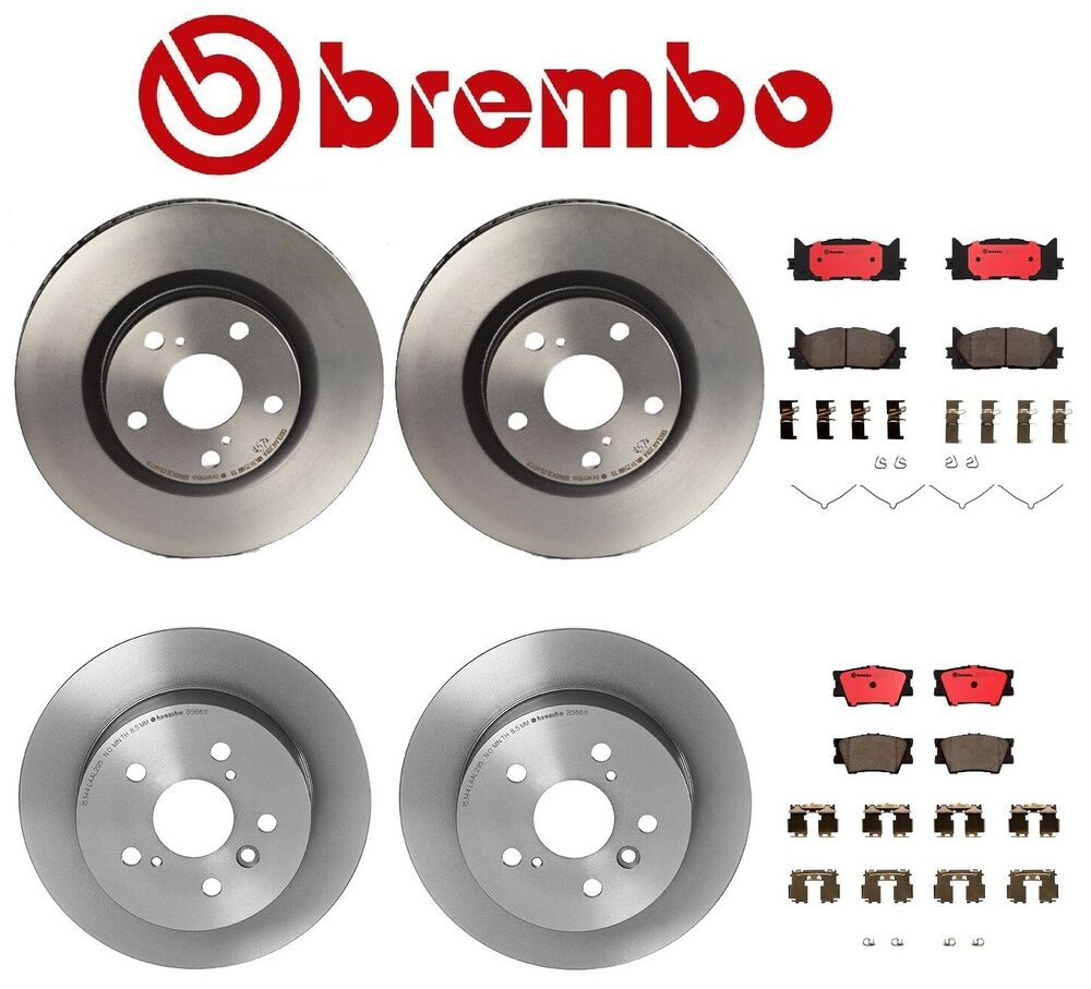 genuine brembo front rear rotors brembo brake pads toyota camry avalon ebay. Black Bedroom Furniture Sets. Home Design Ideas