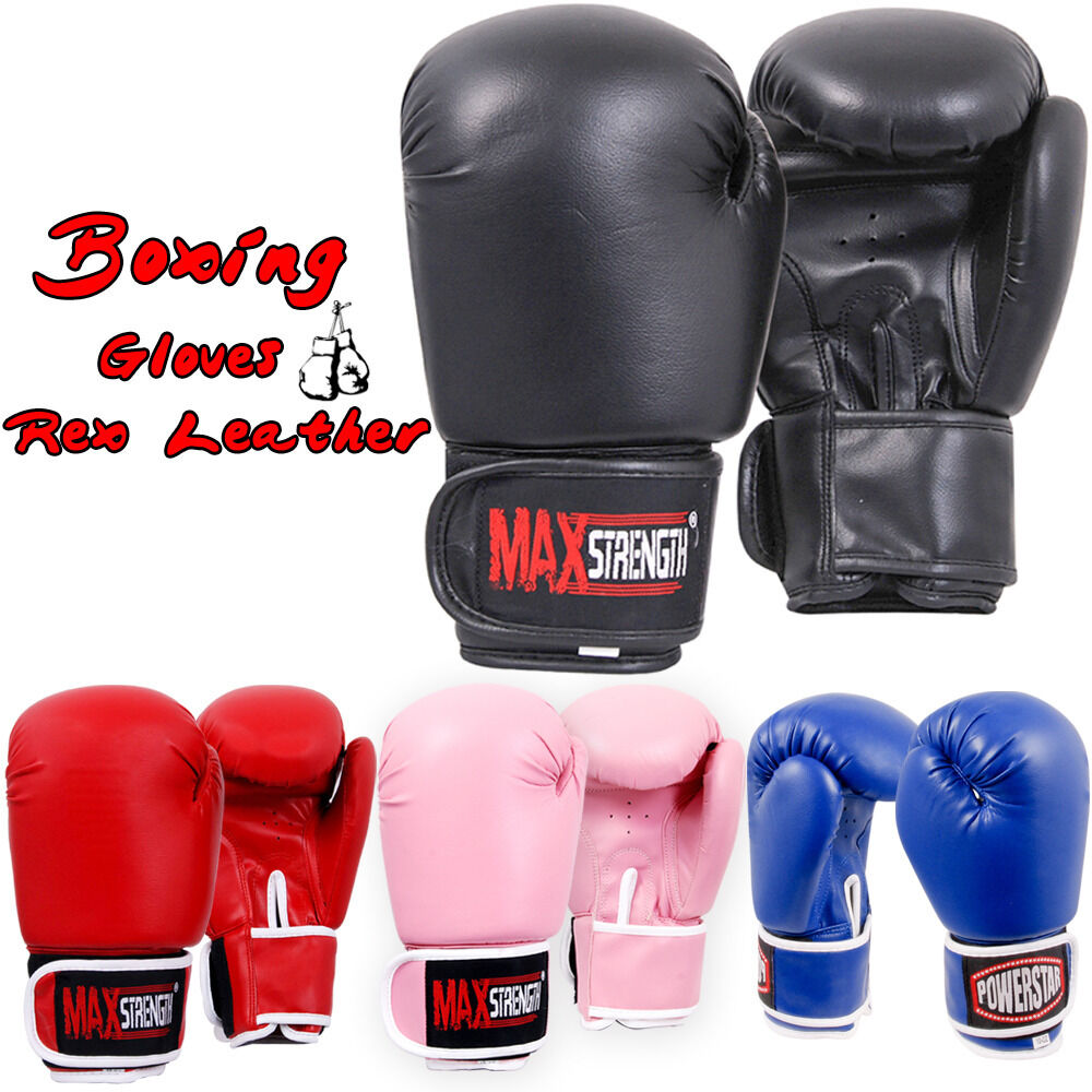 MMA MUAY THAI TRAINING PUNCHING HALF FINGER MITTS SPARRING BOXING GLOVES STRICT