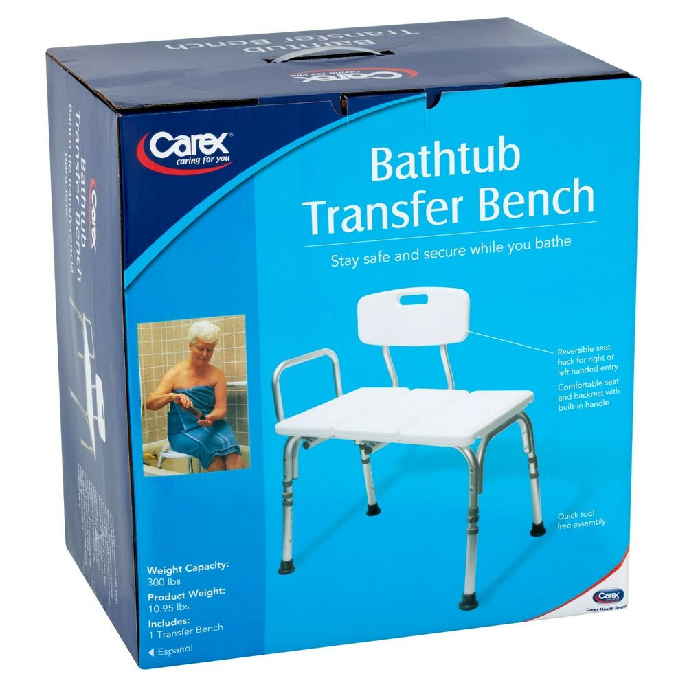 carex bathtub transfer bench safe and comfortable for 85960