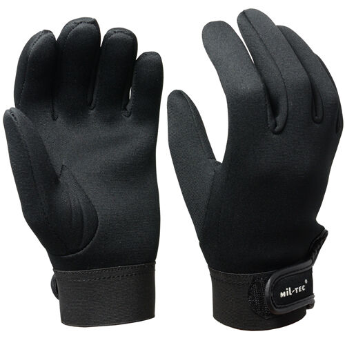 Black neoprene gloves all sizes 3mm cold wet winter for Neoprene fishing gloves