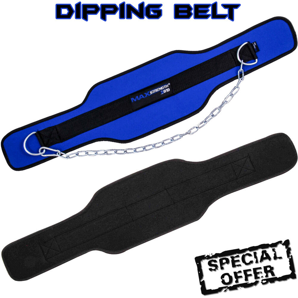 Neoprene Weight Lift Training Workout Gym Palm Exercise: Weight Lifting Dipping Belt Neoprene Fitness Exercise Gym