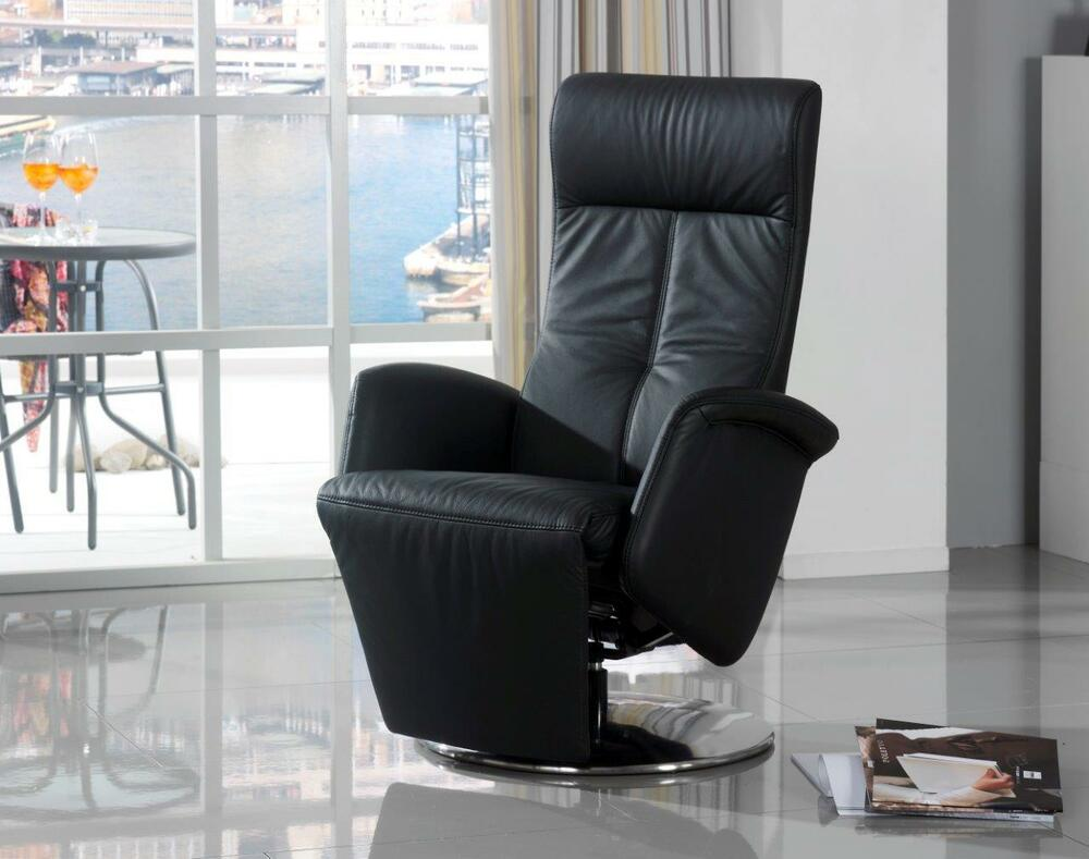 fernsehsessel himolla sessel 9028 easy swing leder schwarz ledersessel neu ebay. Black Bedroom Furniture Sets. Home Design Ideas