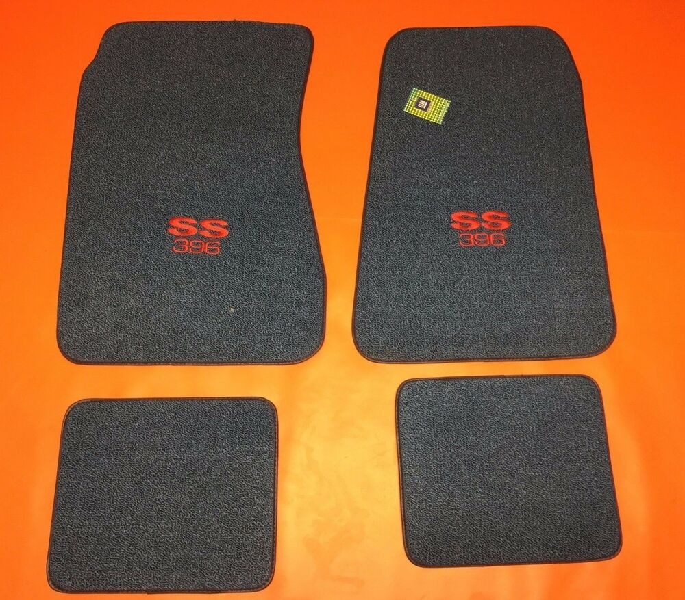 Chevelle Floor Mats Embroidered Ss 396 1968 72 Chevrolet