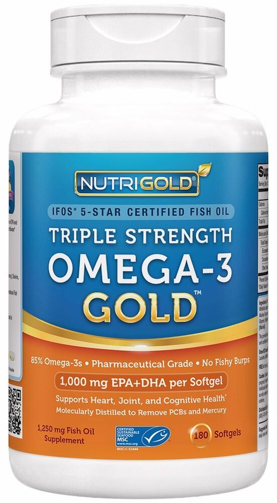 Omega 3 fish oil nutrigold triple strength omega 3 gold for Viva naturals triple strength omega 3 fish oil
