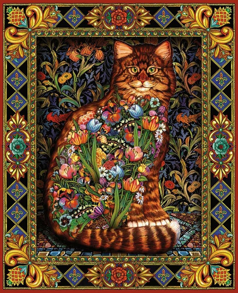white mountain puzzles tapestry cat 1000 piece jigsaw
