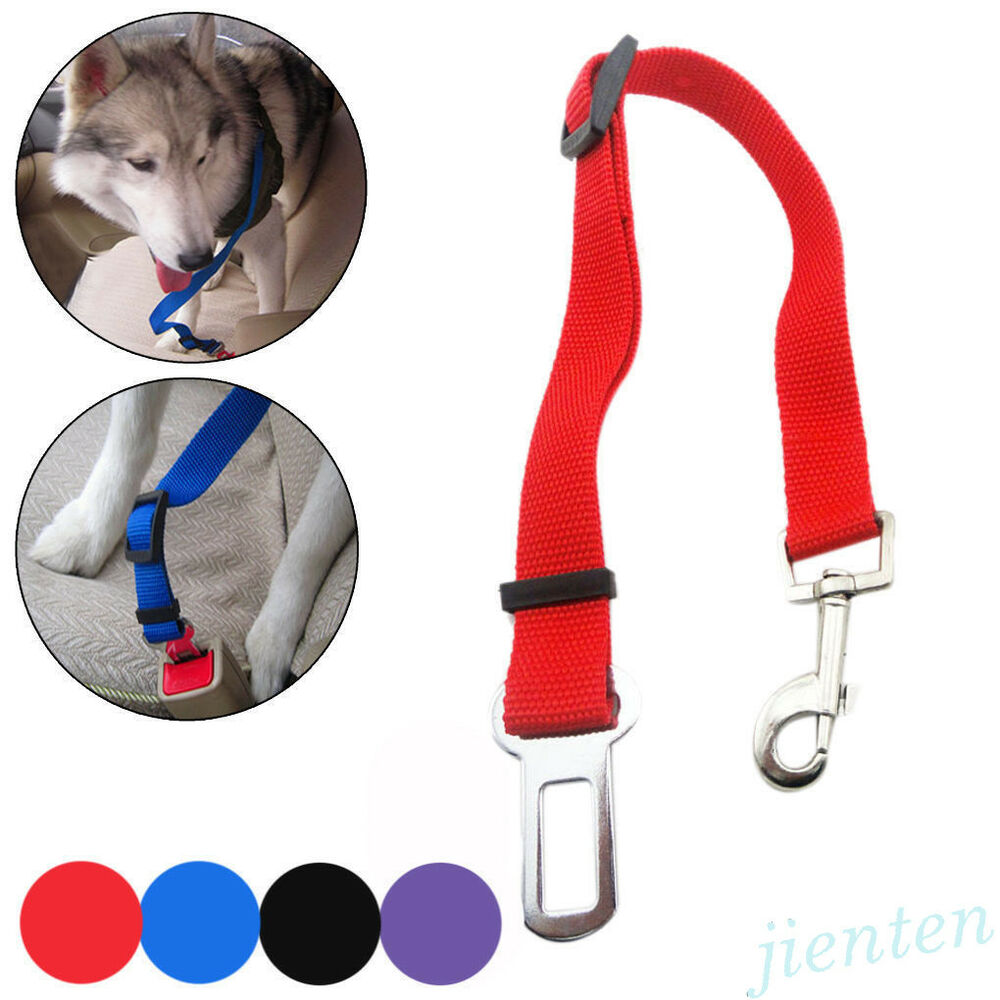 Pet Seat Belt Dog Safety Adjustable Clip For Car Auto