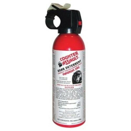 Bear Protection With Frontiersman Bear Spray: NEW Counter Assault Bear Deterrent 10.2oz Pepper Spray All