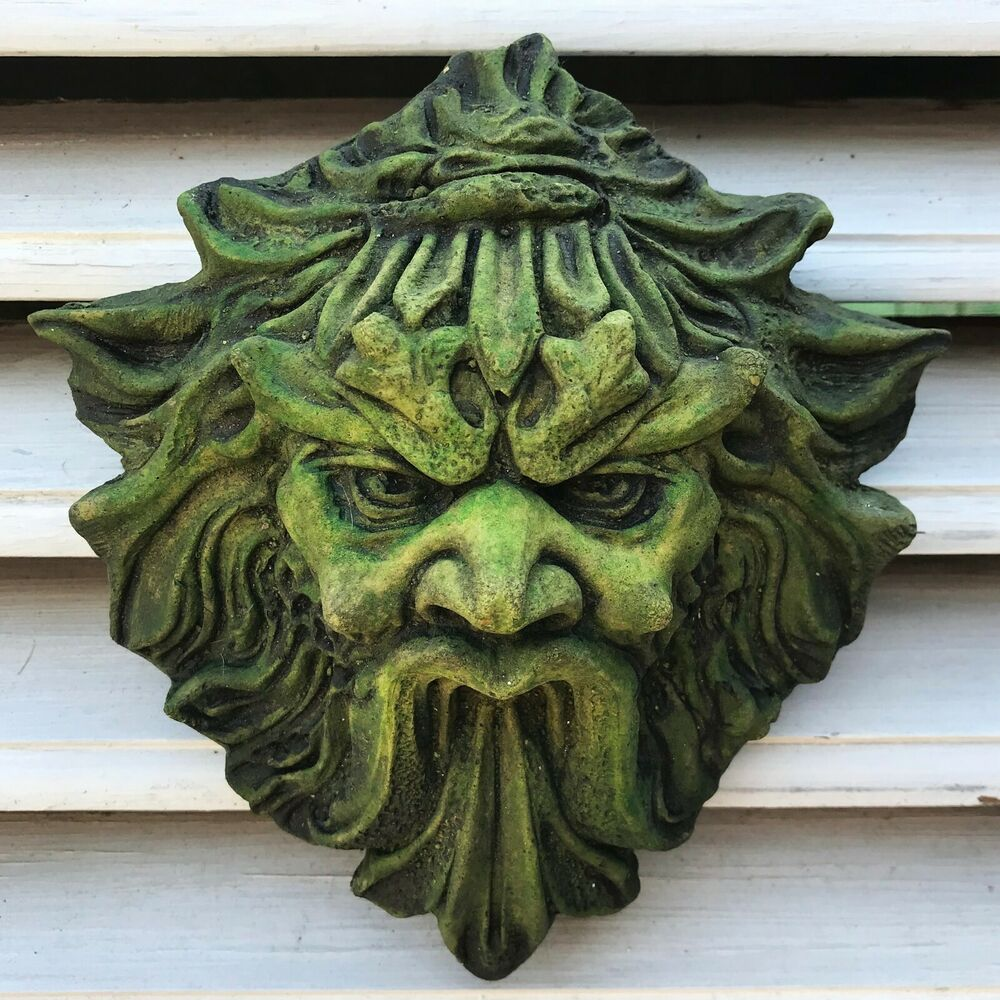 Green Man Wall Plaque Quot Demon Quot Green Man Pagan Home Or