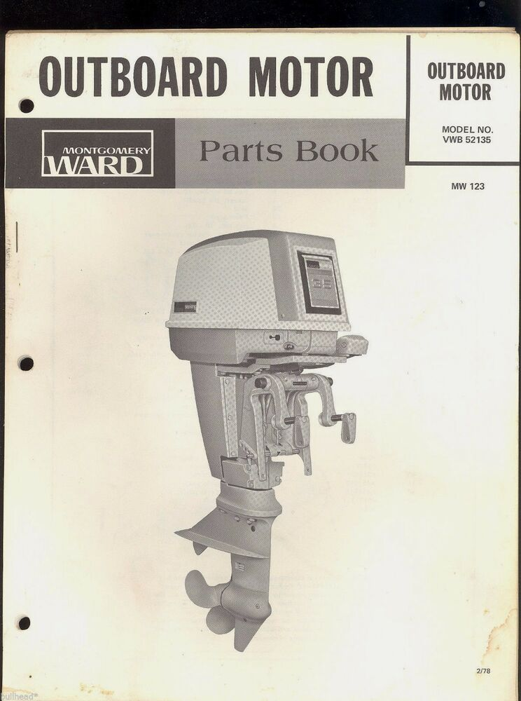 1978    35 Sea King By Chrysler Outboard Parts Manual    Montgomery Ward    Mw