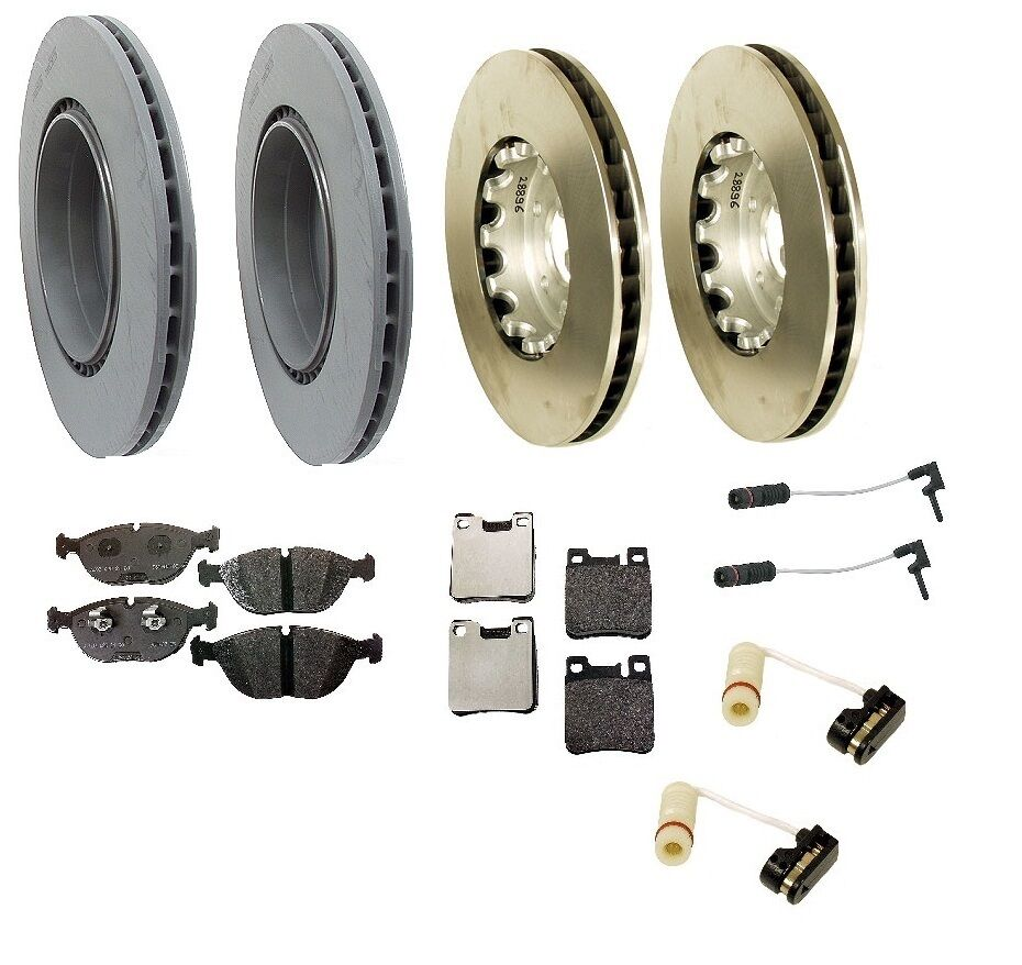 Mercedes w210 e55 amg 99 02 brake kit front rear rotors for Mercedes benz rotors and pads