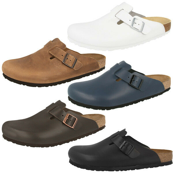 birkenstock boston glattleder clogs classic clog schuhe pantoletten hausschuhe ebay. Black Bedroom Furniture Sets. Home Design Ideas