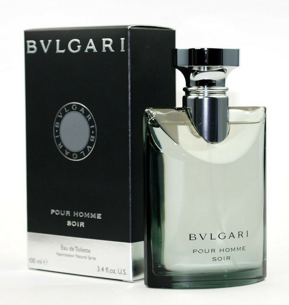 bvlgari soir pour homme cologne 3 3 oz 3 4 oz new in box. Black Bedroom Furniture Sets. Home Design Ideas