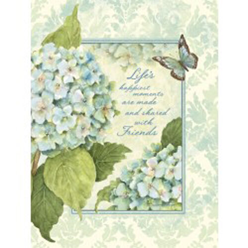 BLUE HYDRANGEAS ADDRESS BOOK, 3-ring padded cover, full ...