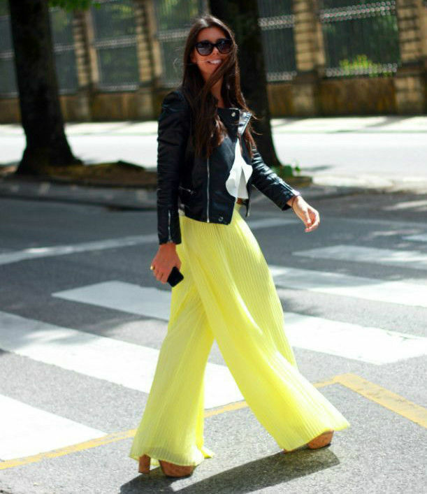 ZARA WOMAN YELLOW PLEATED PALAZZO PANTS BLOGGERS TROUSERS