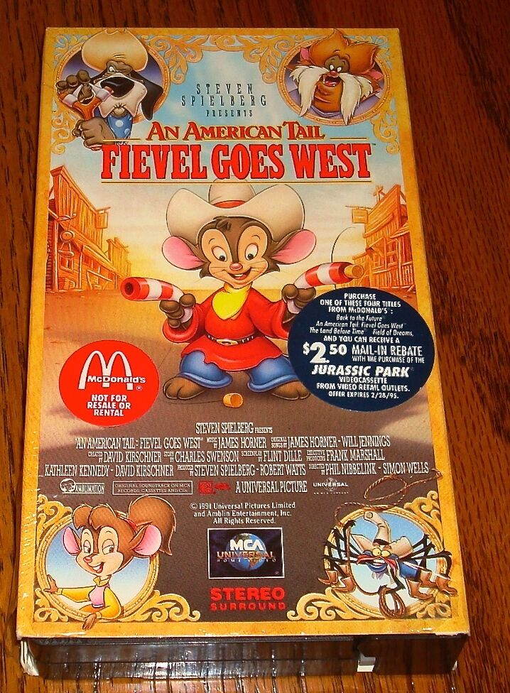 Sell Vhs Tapes >> FIEVEL GOES WEST AN AMERICAN TAIL VHS STILL IN SHRINK WRAP ...