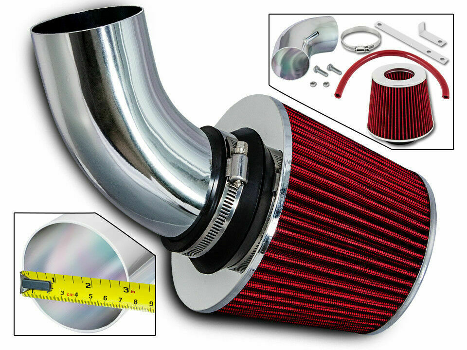2009 pt cruiser fuel filter sport air intake kit + red dry filter for 03-06 chrysler ...